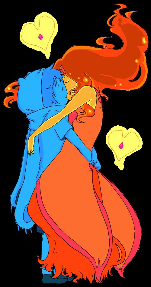 Imagen beso de finn y princessa flama png hora de aventura wiki