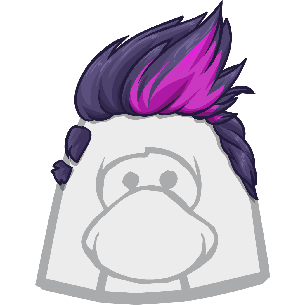 Unnamed Pink And Black Wig Club Penguin Wiki The Free