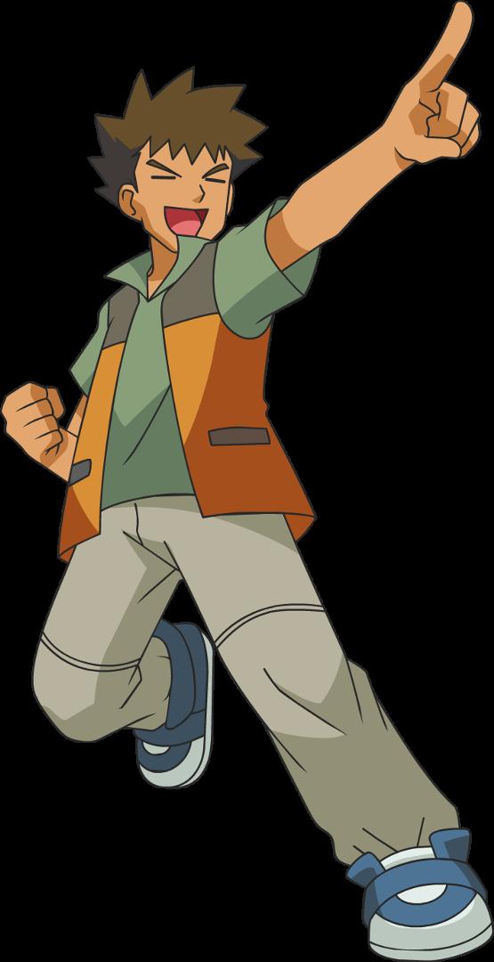 Líderes de Gimnasio [Kanto] Brock_DP_Anime_art