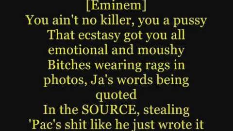 Eminem - Hail Mary ft. 50 Cent, Busta Rhymes (Lyrics On Screen) (Ja Rule Diss))