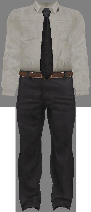 White dress shirt black tie and grey dress pants dead for Gray dress shirt black pants