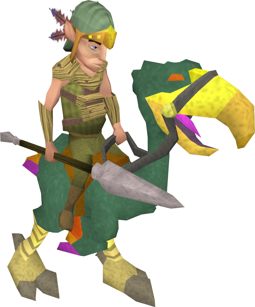 Mounted terrorbird gnome - The RuneScape Wiki