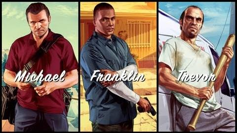 Bunnyjoke/Grand Theft Auto V trailers - Michael. Franklin. Trevor.