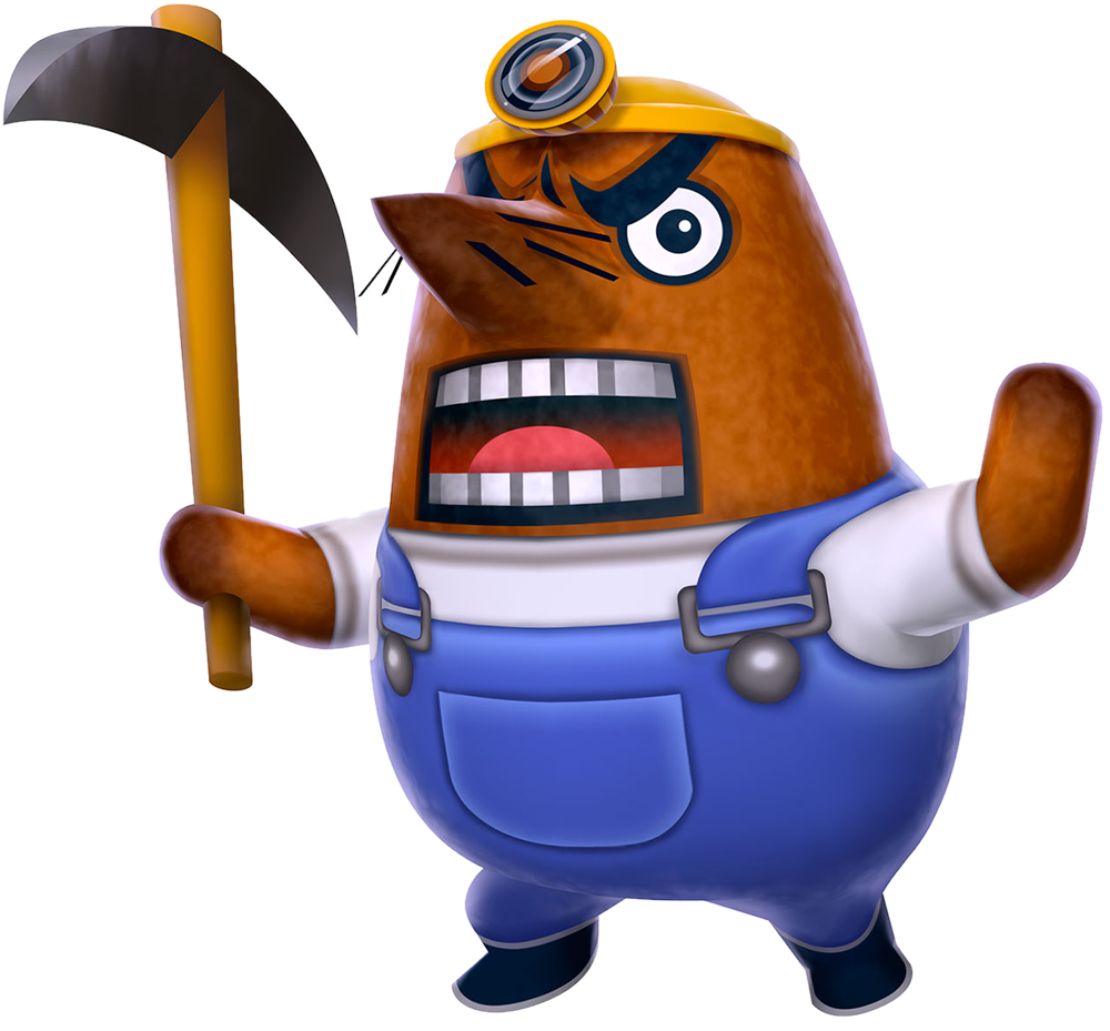 Resetti as he appears in New Leaf