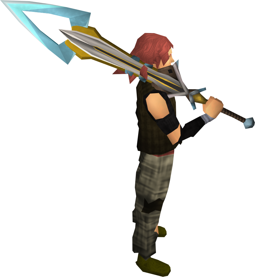 Exquisite 2h sword equipped