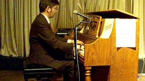 """""""Hallelujah"""" - Paul Asaro at the Fireside in the Red Lion Hotel at Kalispell, Montana during the Glacier Jazz Stampede of 2008"""