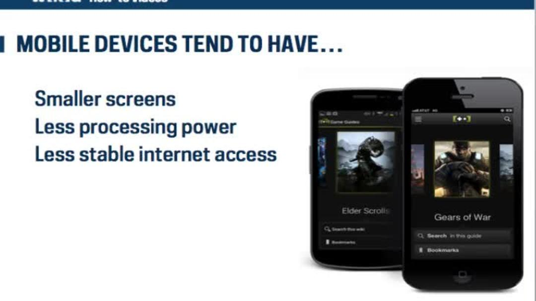 Wikia How To - Making Your Wikia Mobile Friendly