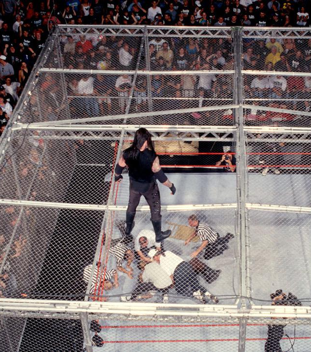 Image result for undertaker vs mankind king of the ring 1996