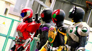 Accel,W,OOO & Birth(Gotou) in Movie War Ultimatum