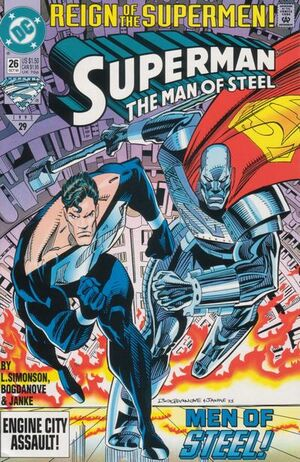 Cover for Superman: Man of Steel #26 (1993)