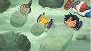 EP663 Ash Pikachu e Axew disfrutando.png