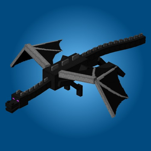 Paper Crafts Minecraft Ender Dragon