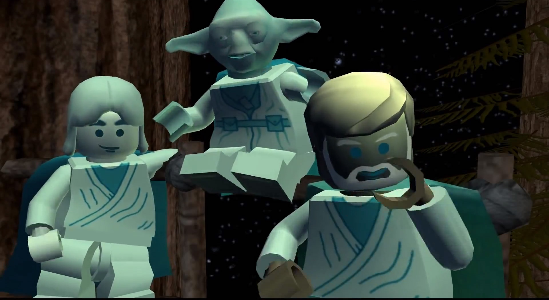 Custom anakin yoda and obi wan ghosts brickipedia the - Lego star wars anakin ghost ...
