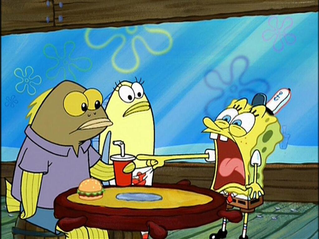 Image random fish drinking encyclopedia for Spongebob characters fish