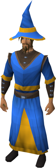 gold trimmed blue wizard set the runescape wiki