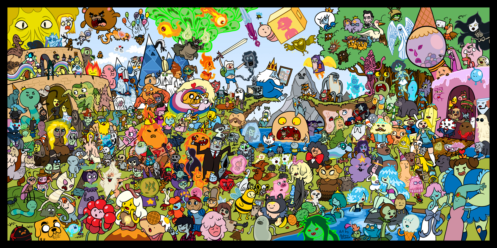 Cartoon Characters Mixed Together : Image adventure time by tompreston d uk m g