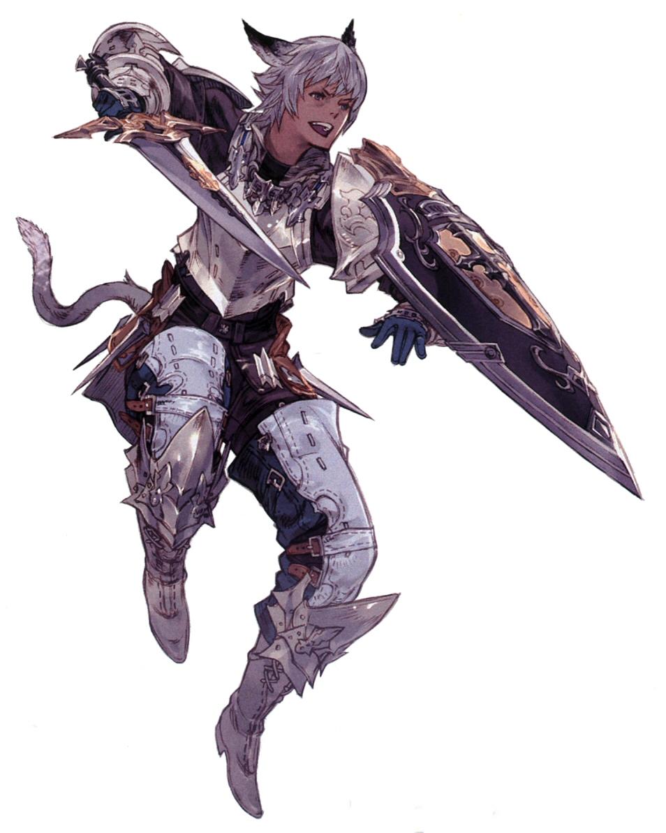 Gladiator Class Artwork ARR Final Fantasy 14 Classes Art