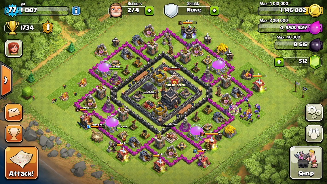 Clash of clans level 8 base