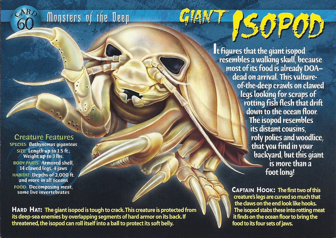 Giant Isopod Monsters of the Deep Card 60 frontGiant Isopod Edible