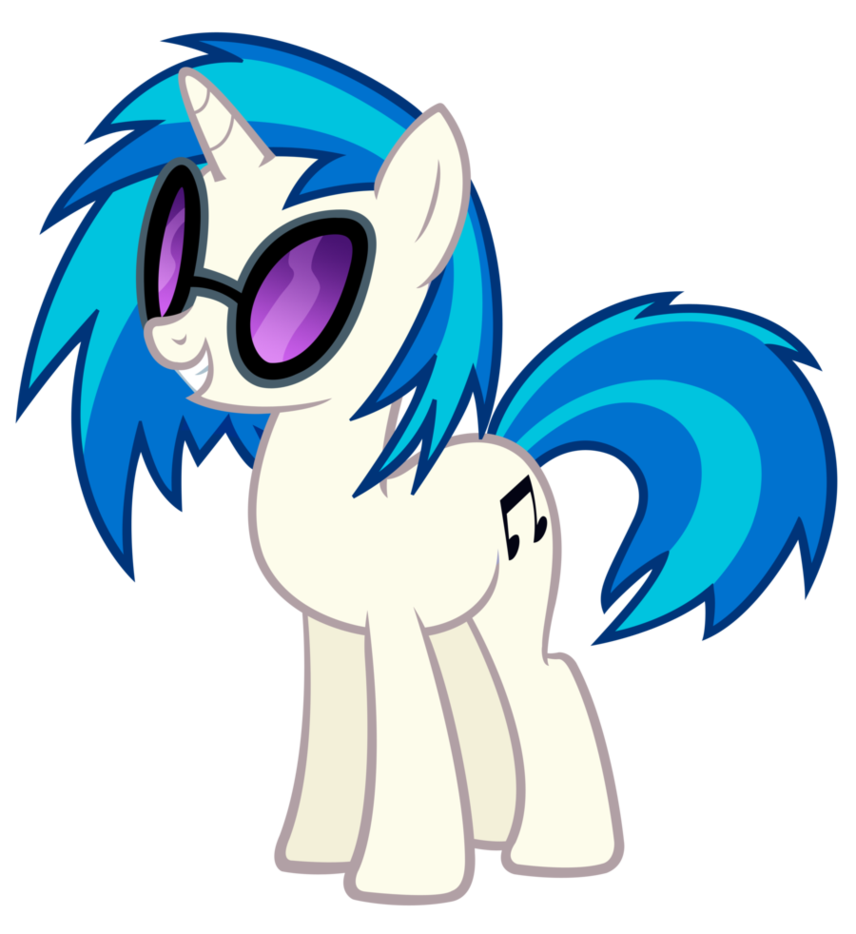 My Little Pony Dj Coloring Pages : Dj pony coloring pages