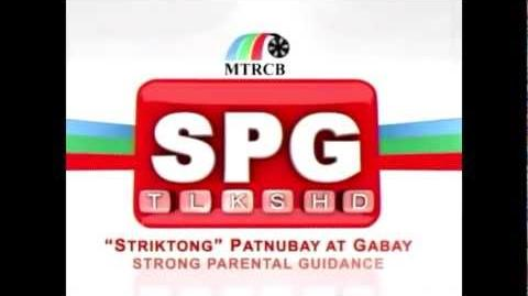 HQ MTRCB SPG (Strong Parental Guidance Striktong Patnubay At Gabay) Tagalog 4x3 No Watermarks