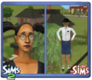 Sims in pigtails
