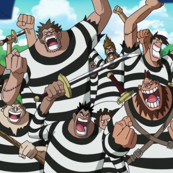 One Piece Impel Down: Buggy Pirates Impel Down Convicts Portrait.png