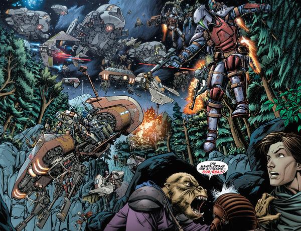 Mandalorians invade Vanquo