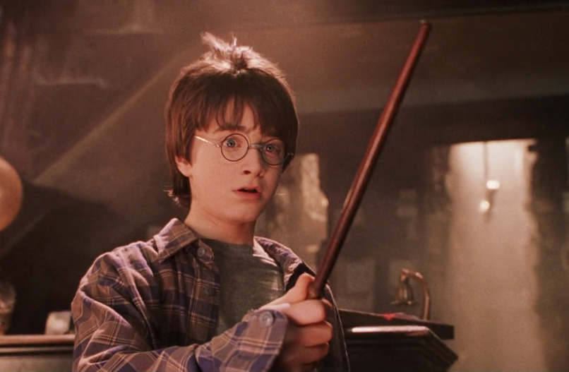 Harry Potter and wand