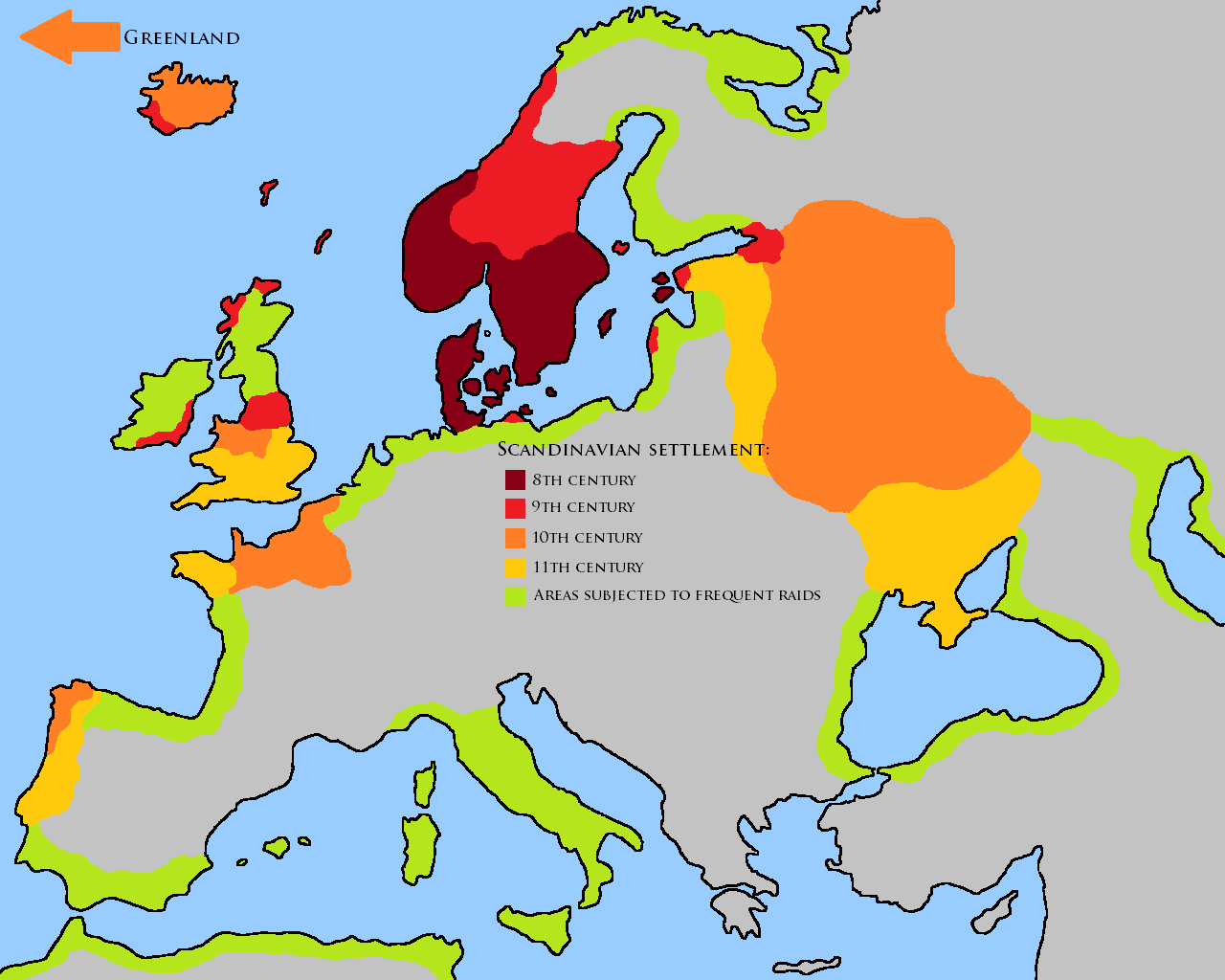 a history of the viking population in the 9th century Viking trade towns the viking age as the vikings began raiding and trading into europe and russia during the 8th and 9th centuries  by the 10th century.