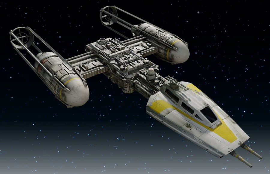 Y-Wing Fighter: the force is strong with this one.