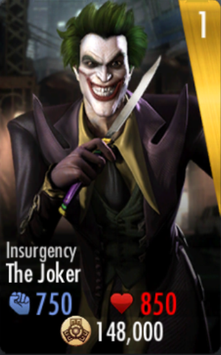 The Joker Injustice Insurgency Image - Gold Insurgenc...