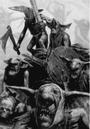 Gnoblars Ogre Kingdoms 6th Edition Black&White illustration.png