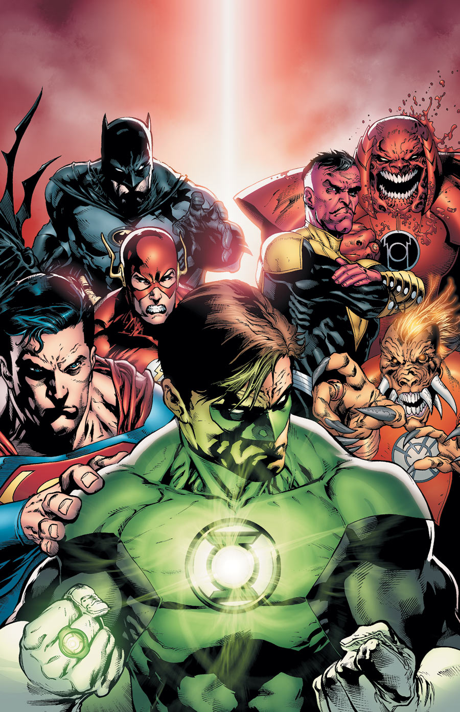 It is an image of Genius Pictures of Green Lantern