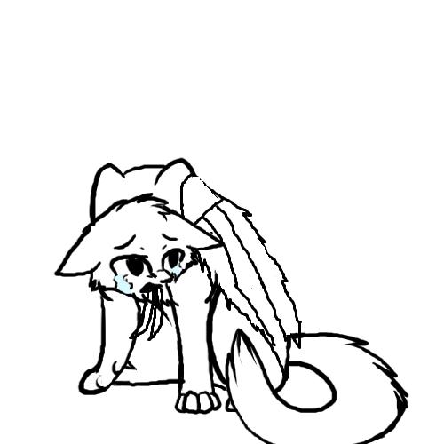 Sad Cat Lineart By Soulcats-d5e5m4u.png