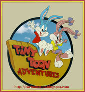 Tiny toons logo 1990 with cartoonatics bug