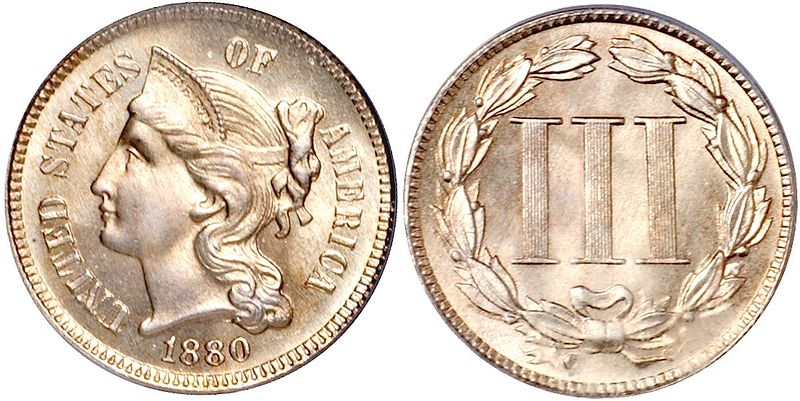 Image Three Cent Piece Nickel Jpg Currency Wiki The