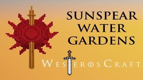 Game of Blocks Game of Thrones - Sunspear Water Gardens in Minecraft