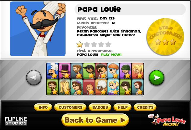 papa louie 1 games