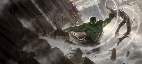 Hulk Art Images Image Hulk vs Chitauri