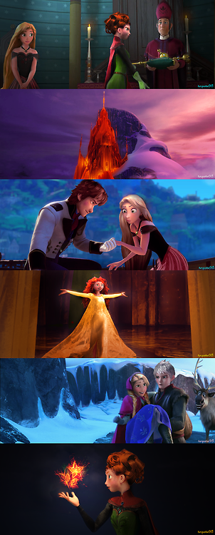 Frozen AU is a relatively new AU  Alternative Universe   in which the    Frozen Tangled Brave