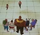 Toguro el Menor vs Topaz, Dosukoi, Gorilla, Babaki y Gagaki