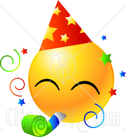 Image - 22160-Clipart-Illustration-Of-A-Yellow-Emoticon-Face-Wearing-A ...