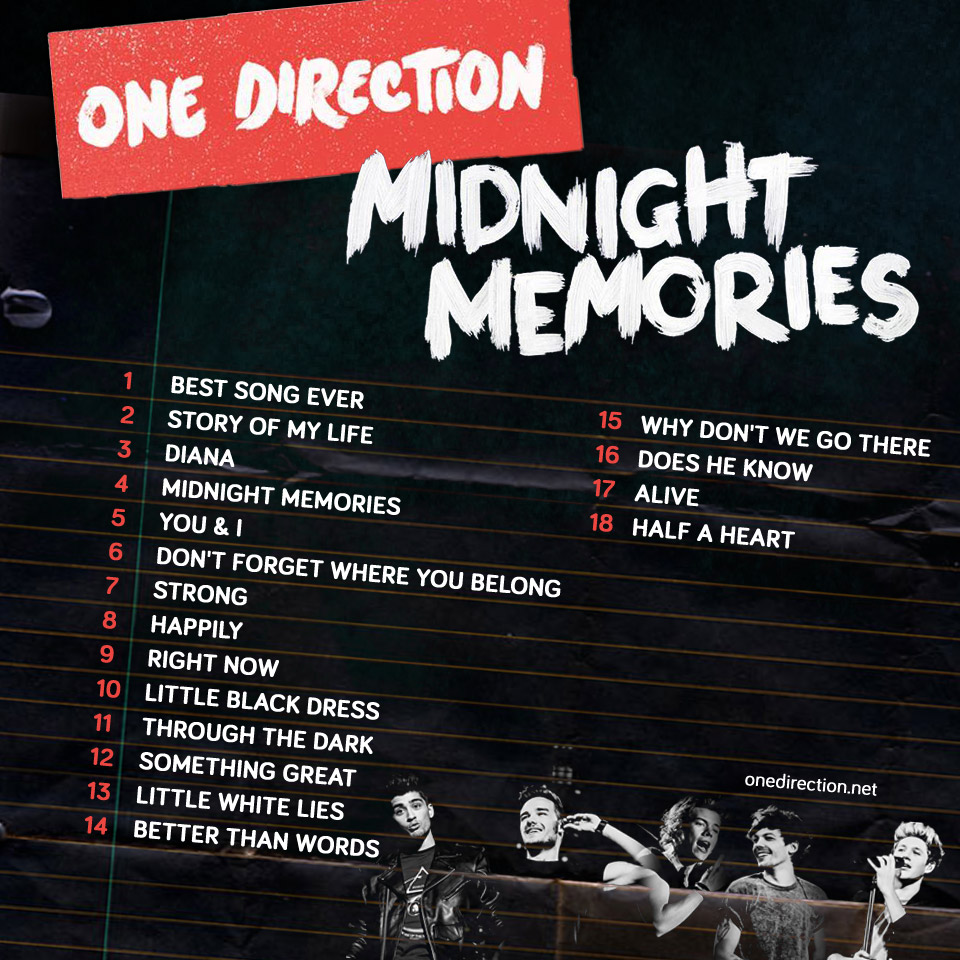 Midnight Memories (album) - One Direction Wiki One Direction Names In Words