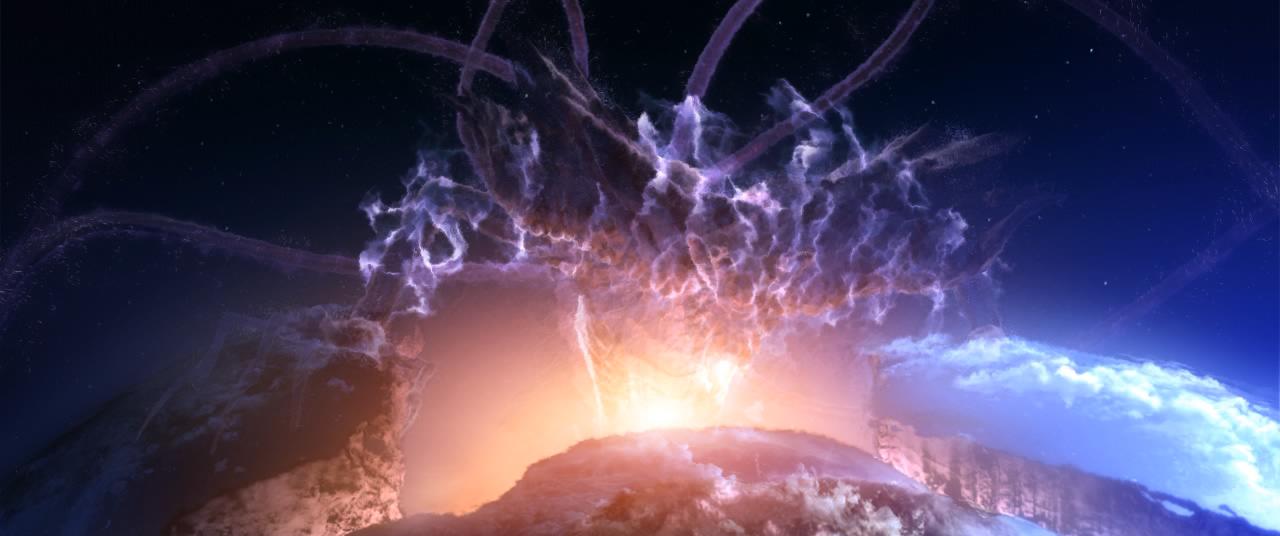 دارک گایا درحال برخاستن از درون هسته ی زمین