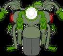 Motocicleta Verde