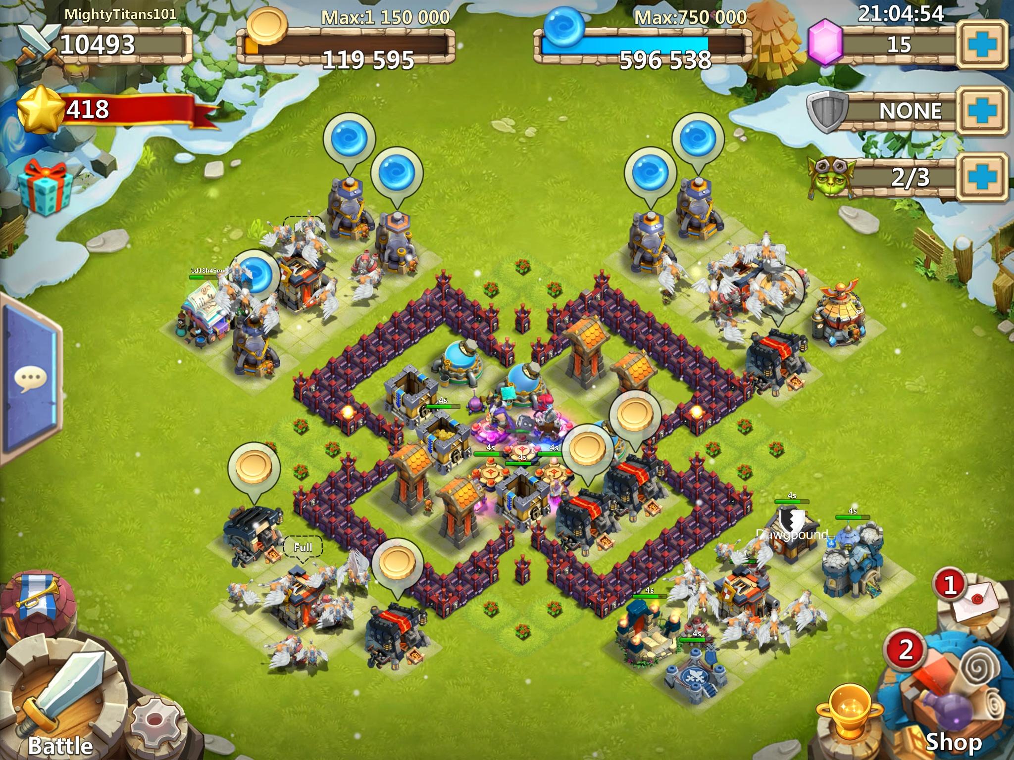 Castle clash base design game writer central