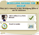 Beseeching Bashak for Backup