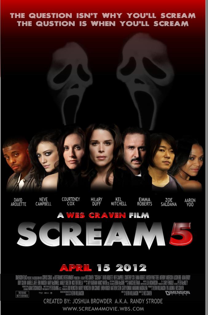 User blog:Markealeswhite/Fan Posters For Scream 5 - Scream ...