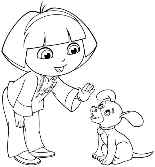 dora friends coloring pages | Image - Cartoon-dora-the-explorer-and-friends-coloring ...